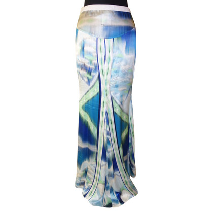 Emilio Pucci Silk maxi skirt with pattern