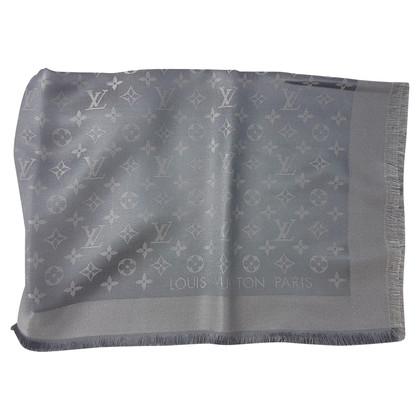 Louis Vuitton Monogram Shine-panno in argento / grigio