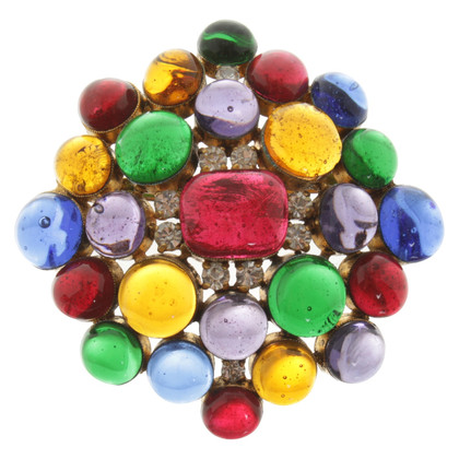 Chanel Broche en multicolore