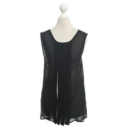Ann Demeulemeester Silk top in black