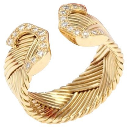 Cartier 18k Gold Ring mit Diamanten