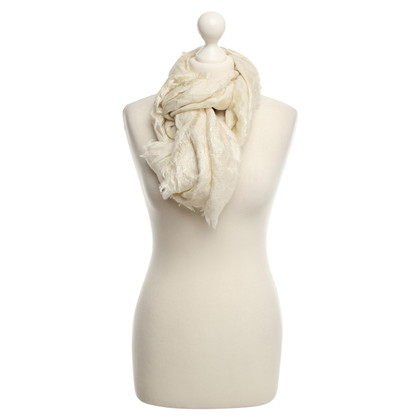 Escada Fine scarf in cream colors