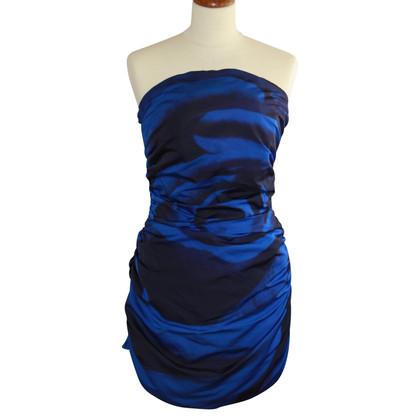 MSGM Bandeau-jurk in blauw / zwart