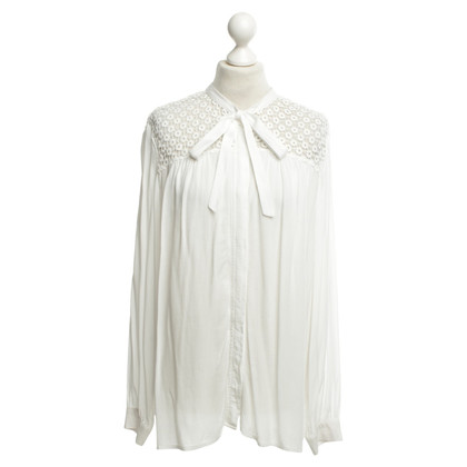 French Connection Blouse in white with lace
