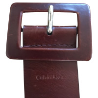 Calvin Klein Wide belt in brown