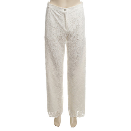 Valerie Khalfon  Marlene trousers made of white lace
