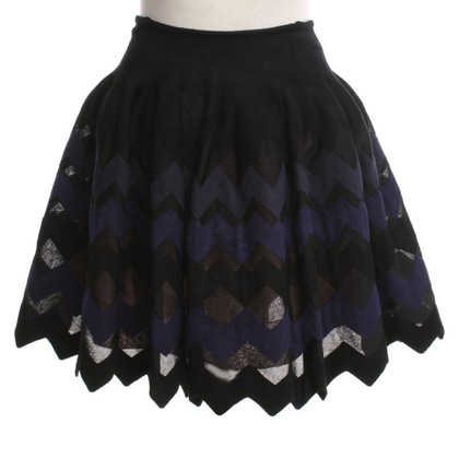 Alaïa skirt with zig-zag pattern