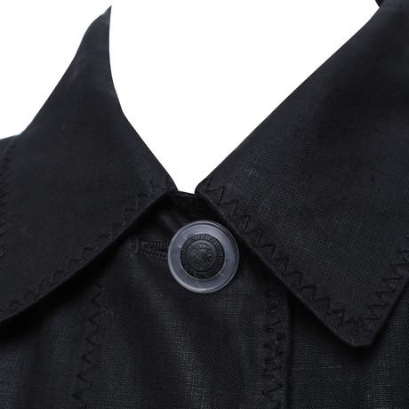 Schwarz Schwarz in Versace Versace Mantel in Schwarz Mantel Versace Schwarz aHRFWZZ