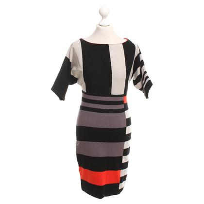 Karen Millen Gestreepte gebreide jurk