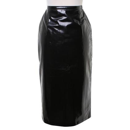 D&G Lakleder rok in zwart