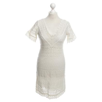 Max Mara Crèmekleurige kanten jurk