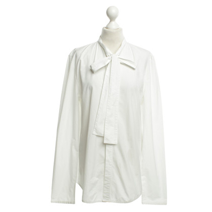 Balenciaga  Bow blouse in white