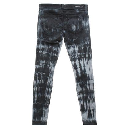 Current Elliott Skinny jeans with batik pattern