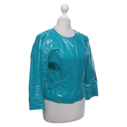 Marc Cain Leather jacket in turquoise