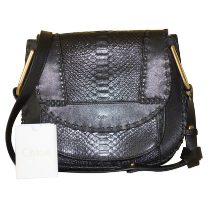 "Chloé ""Hudson Bag"" made of python leather"
