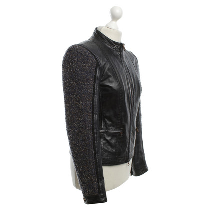 Other Designer Milestone Leather Jacket with Bouclé