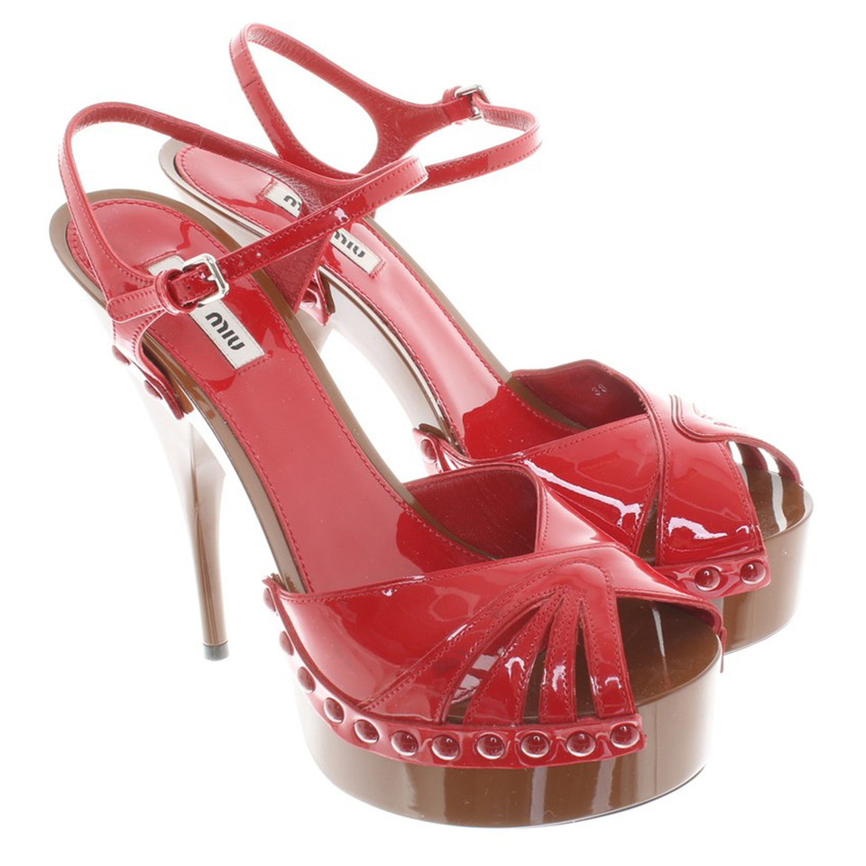 Miu Miu Sandals of patent leather