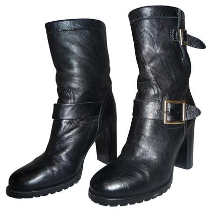 Jimmy Choo stivali di pelle nera