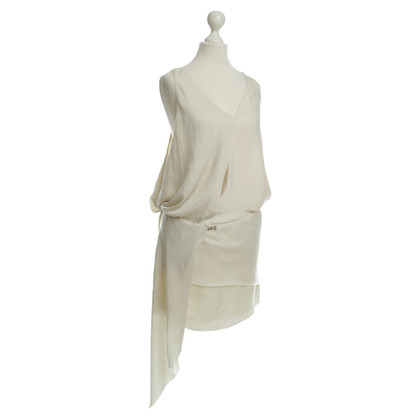 Acne Asymmetrisches Kleid in Creme