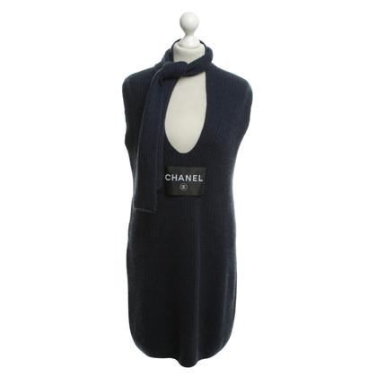 Chanel Kaschmir-Strickkleid in Dunkelblau