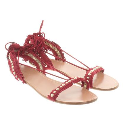 Aquazzura sandali in camoscio