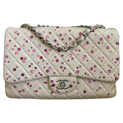 "Chanel ""Classic Flap Bag"" with rhinestone trim"