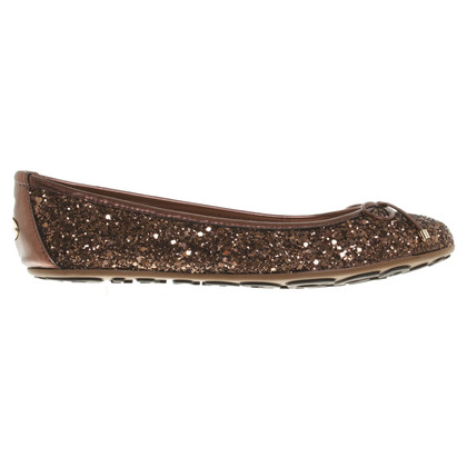Jimmy Choo Ballerinas with glitter particles