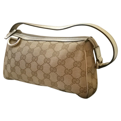 Gucci Shoulder bag in monogram canvas and leather