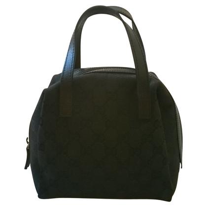 Gucci Handmade handbag in monogram and leather