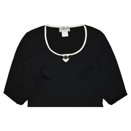 Versace Camicetta in cotone nero