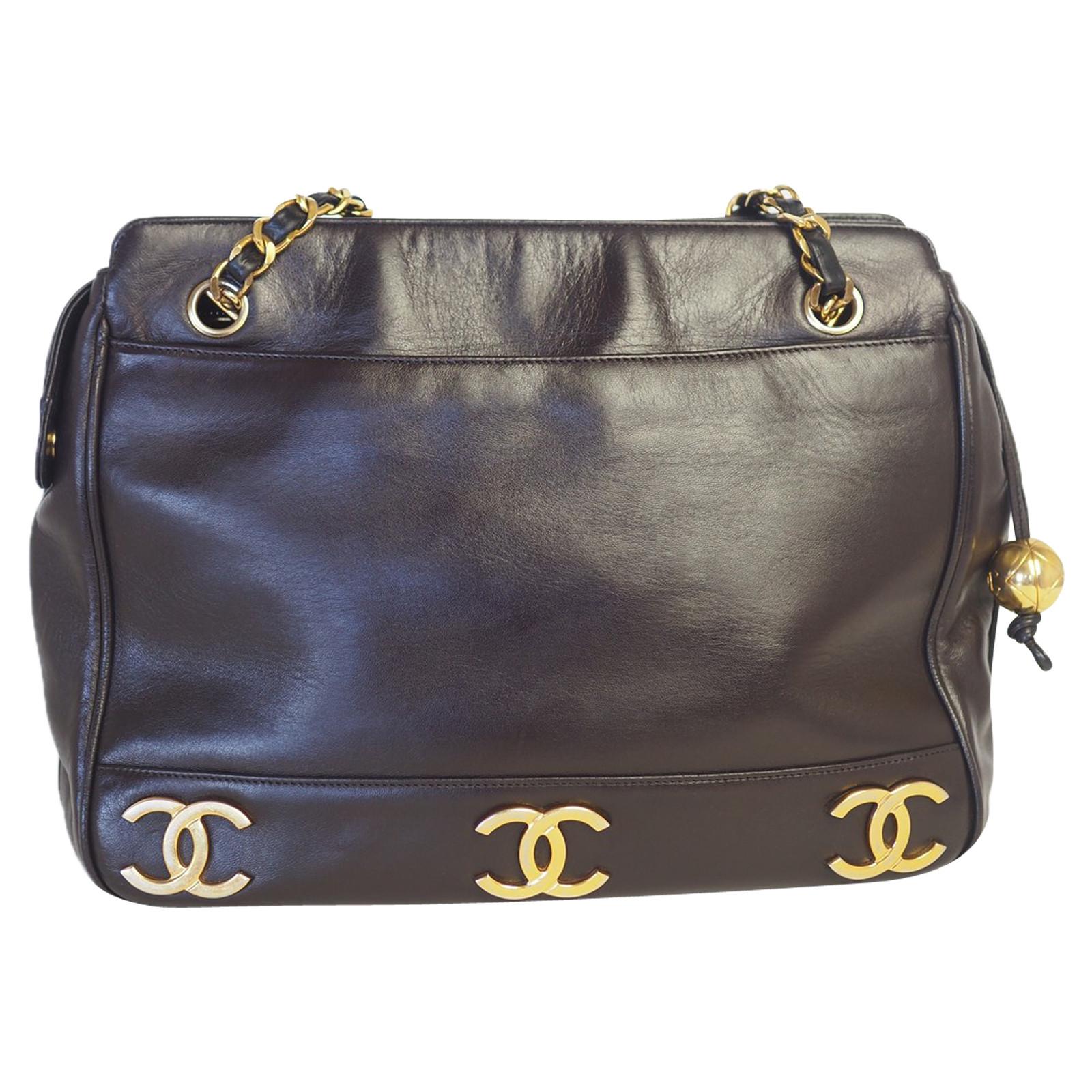 vendita calda online e8489 1b294 Chanel Borsa a tracolla in Pelle in Marrone - Second hand Chanel ...