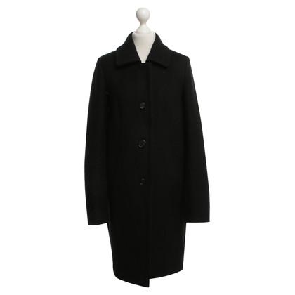 Odeeh Klassischer Mantel in Schwarz