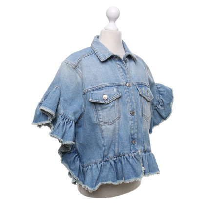 MSGM Denim jas met ruches