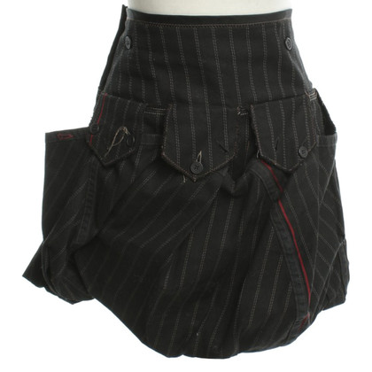 Marithé et Francois Girbaud PIN stripe mini rok