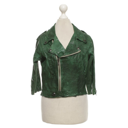 Twin-Set Simona Barbieri biker jacket in used look