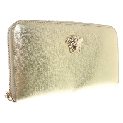 Versace Metallic-look wallet
