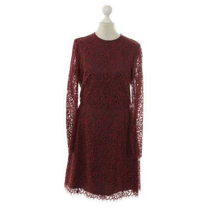 Carven Spitzenkleid in Bordeaux