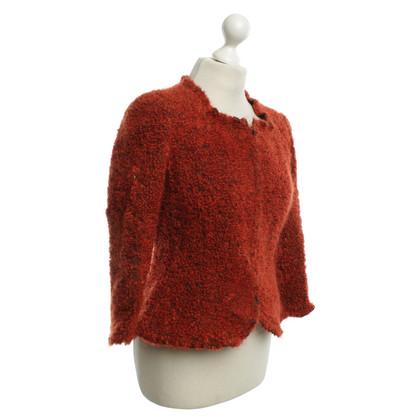Armani Collezioni Fleece jacket in Rostrot