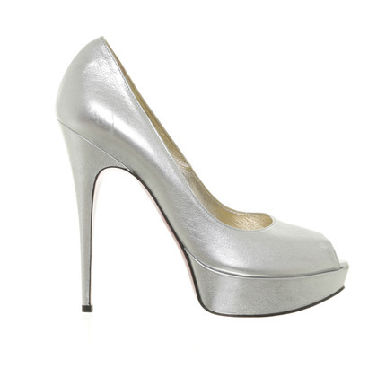 Luciano Padovan Peep-toes in metallic-look