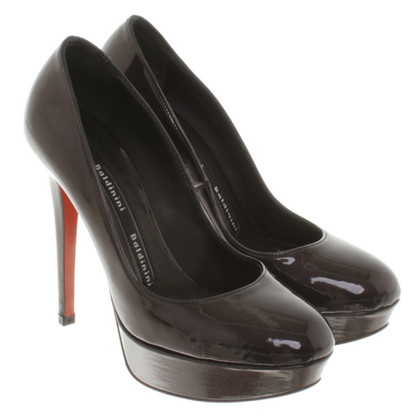Baldinini Patent leather pumps in anthracite