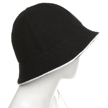 Chanel Hat in black and white