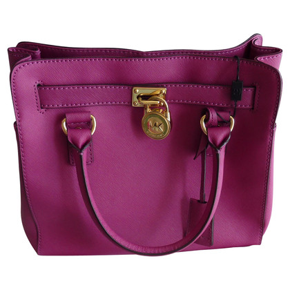 Michael Kors Hamilton Bag in fucsia