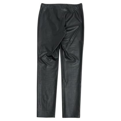 Isabel Marant Etoile Kunstleer broek in zwart