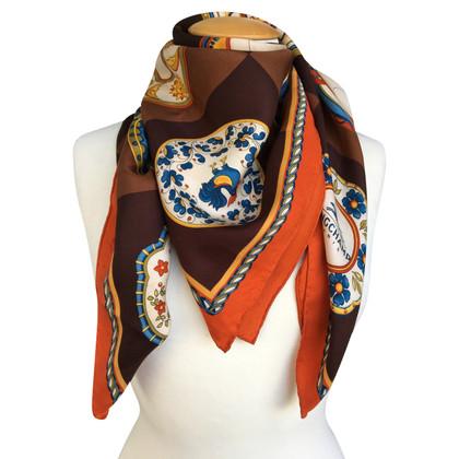 Longchamp silk scarf