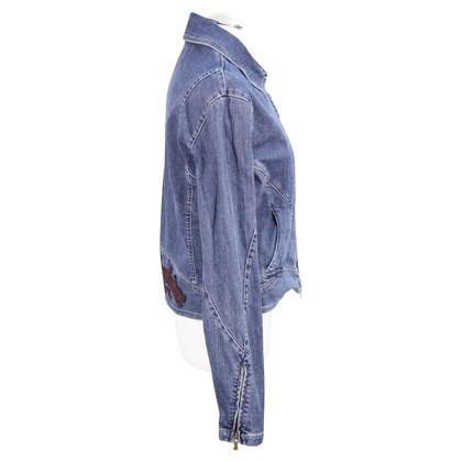 Versace Veste en jean en bleu