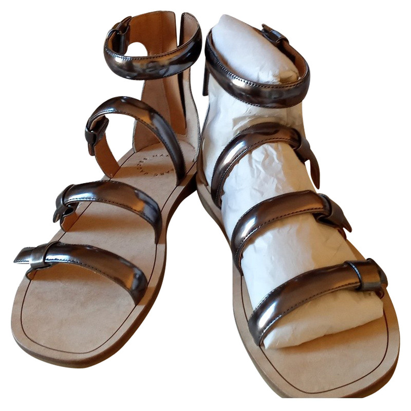 Marc Jacobs Sandals Leather in Silvery