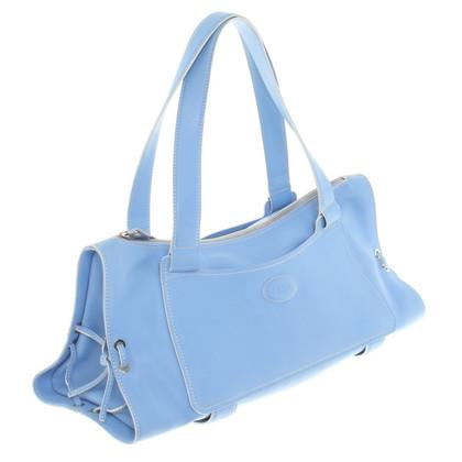 Tod's Luce borsetta blu fatta di cuoio
