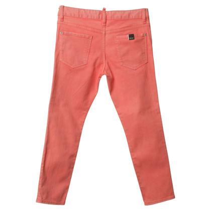 Dsquared2 Jeans in uitgewassen zalm Toon