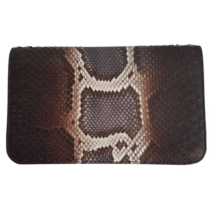"Fendi ""2Jours Envelope clutch"" Python Leather"