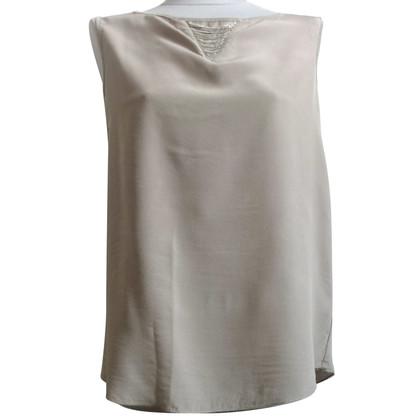 Fabiana Filippi Light gray silk shirt